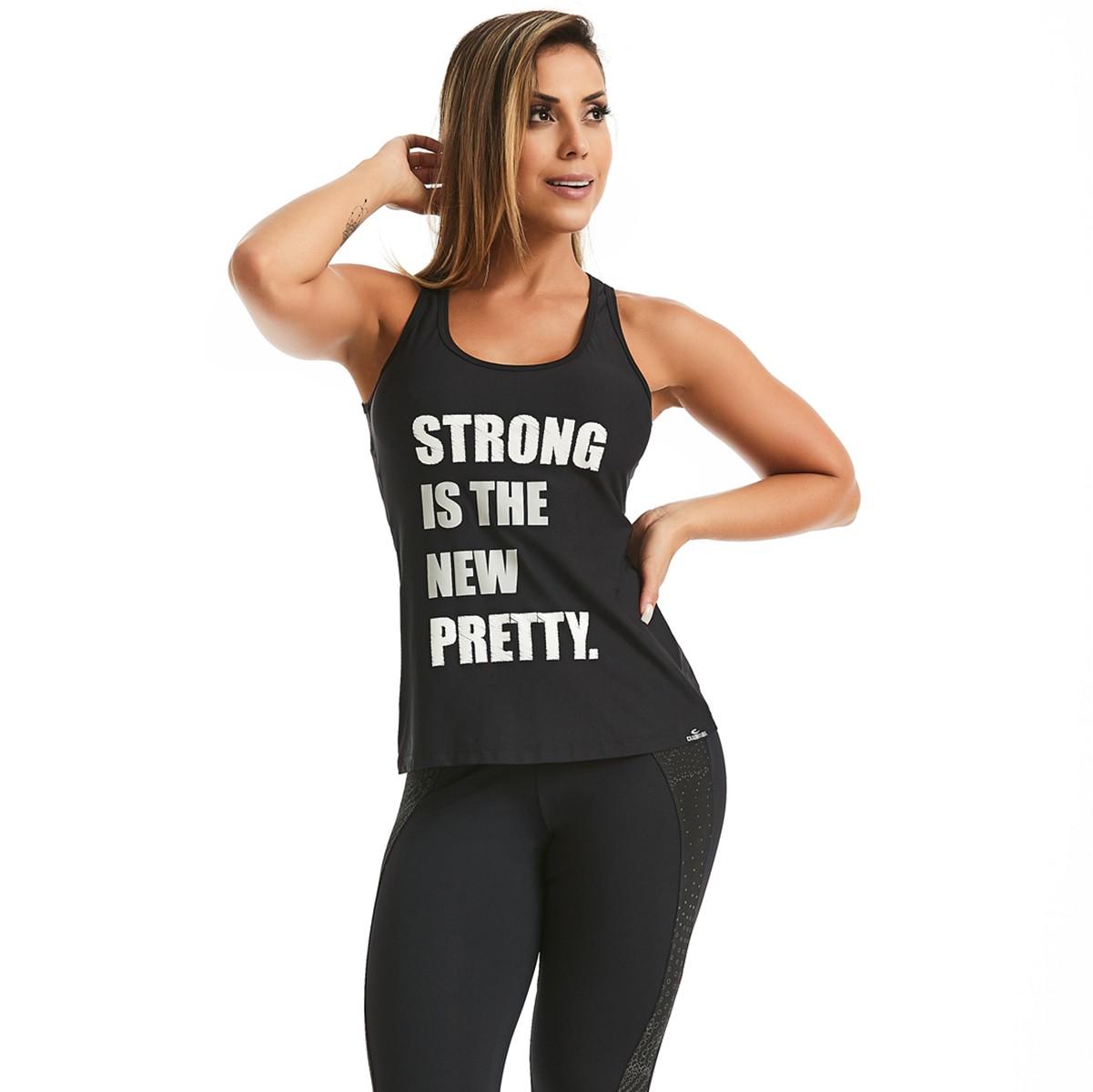 Regata Strong Preta CAJUBRASIL Activewear