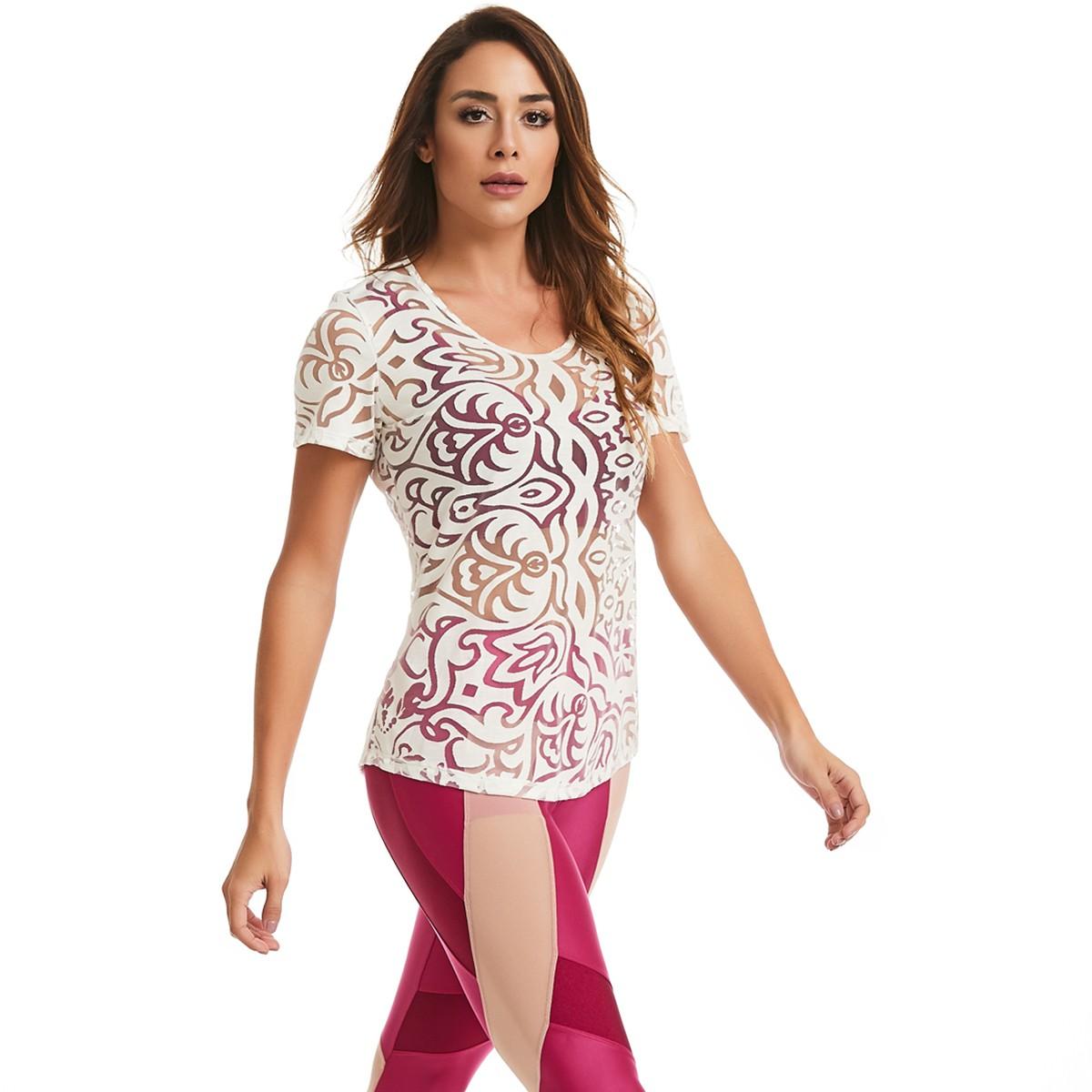 T-shirt Her Branco CAJUBRASIL Activewear
