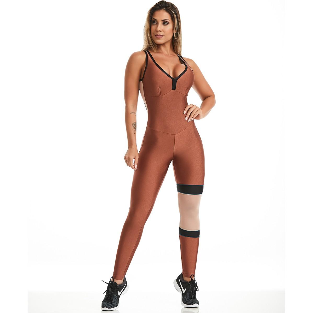 Macacão Radiance Bronze CAJUBRASIL Activewear