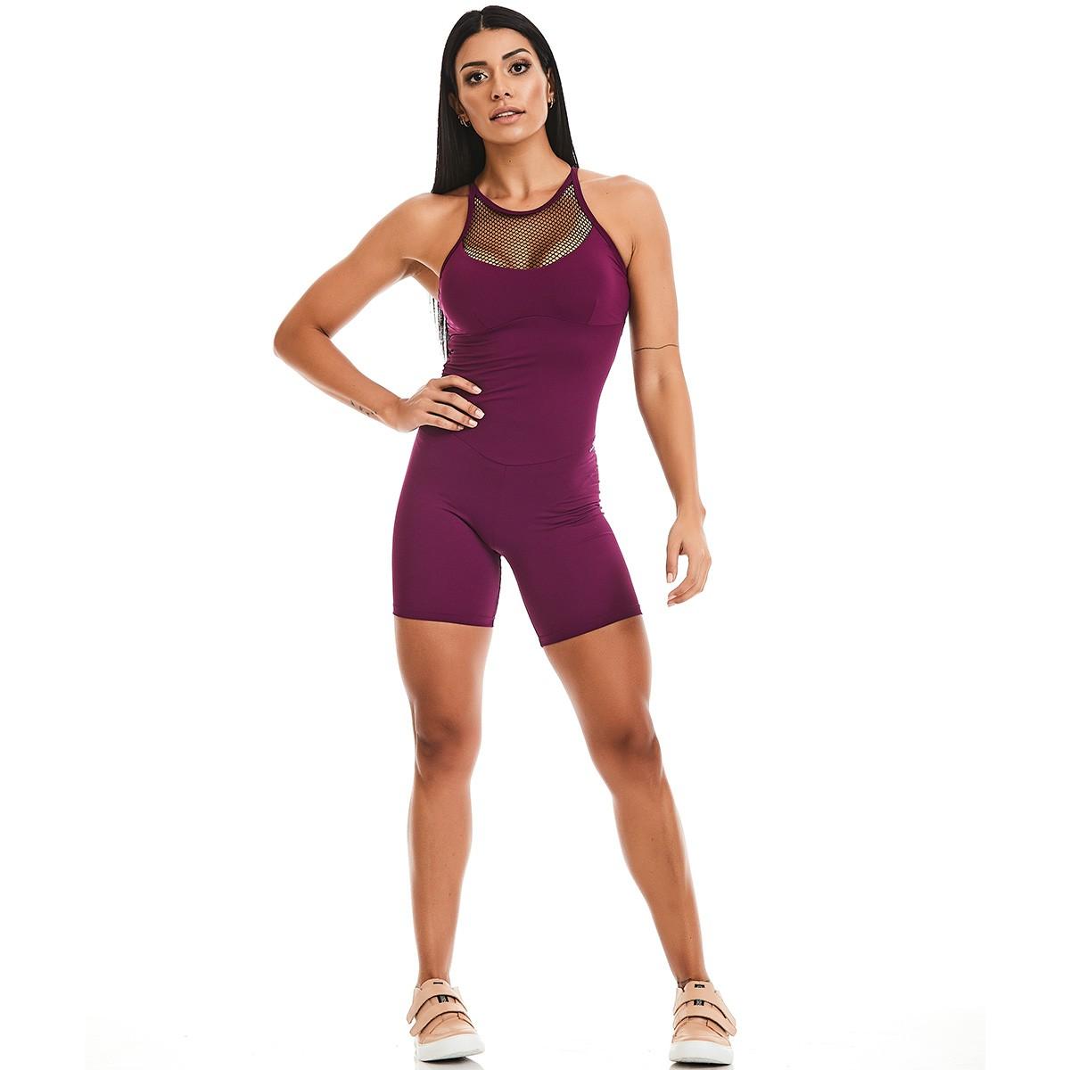 Macaquinho Rock Sport Roxo CAJUBRASIL Activewear