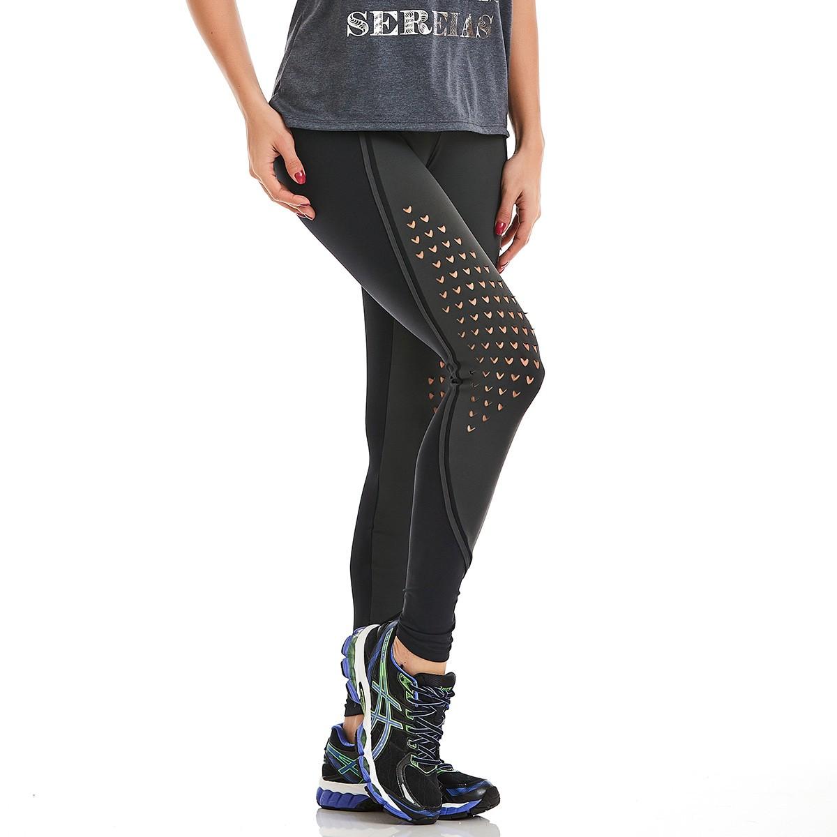 Legging Emana Laser Cinza CAJUBRASIL Activewear