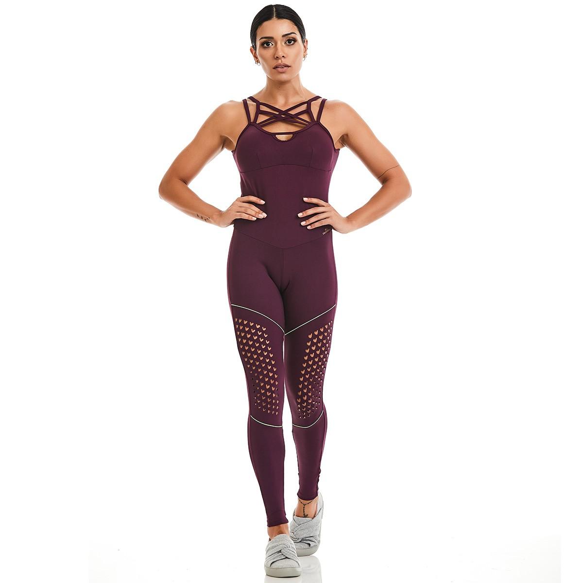 Macacão NZ Laser Paradise Roxo CAJUBRASIL Activewear