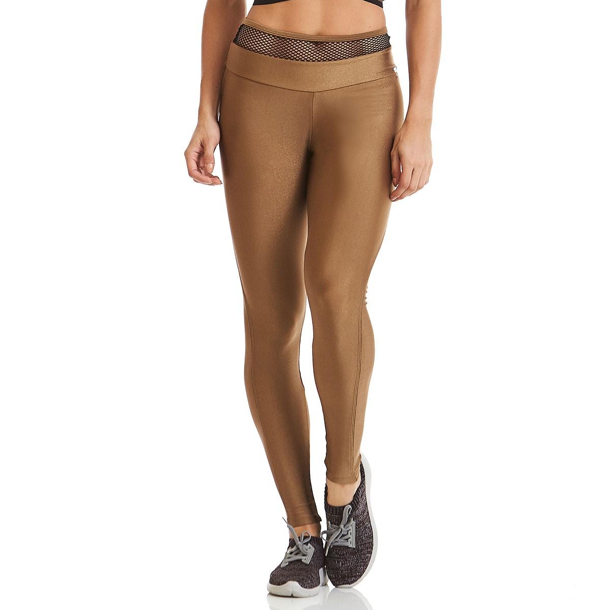 Legging Ocean Dourada CAJUBRASIL Activewear