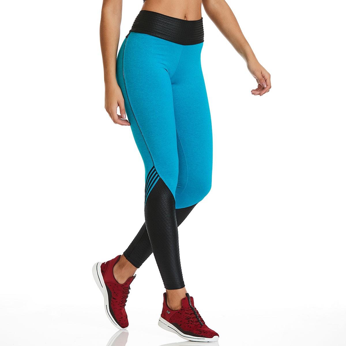Legging Rock Azul CAJUBRASIL Activewear