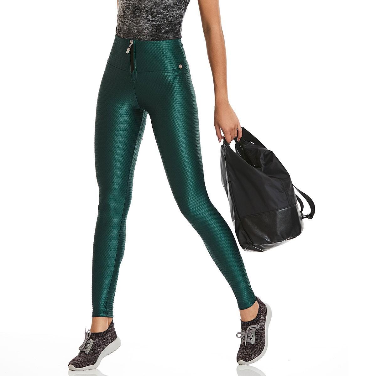 Legging Leather Verde CAJUBRASIL Activewear