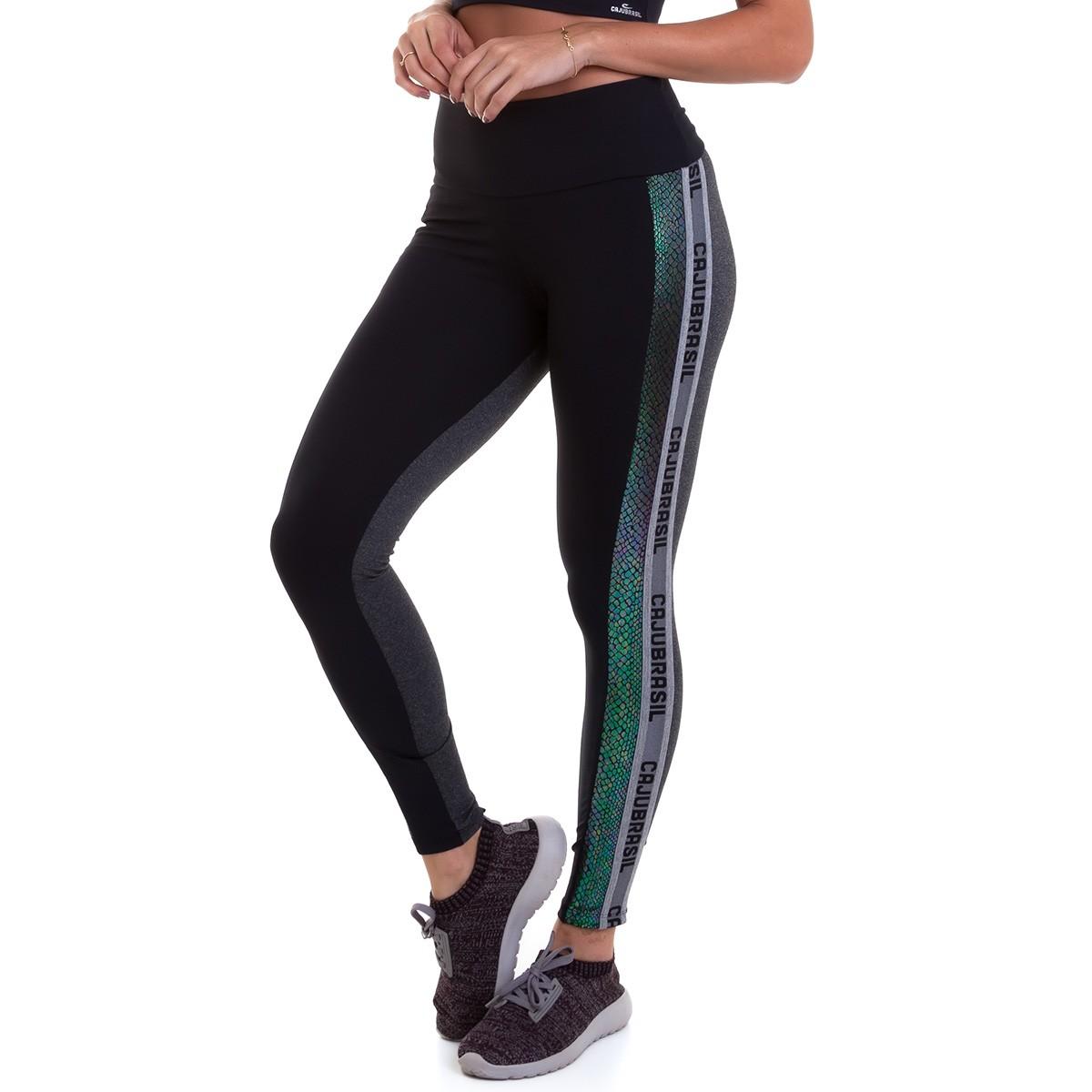 Legging NZ Glitter Preta CAJUBRASIL Activewear