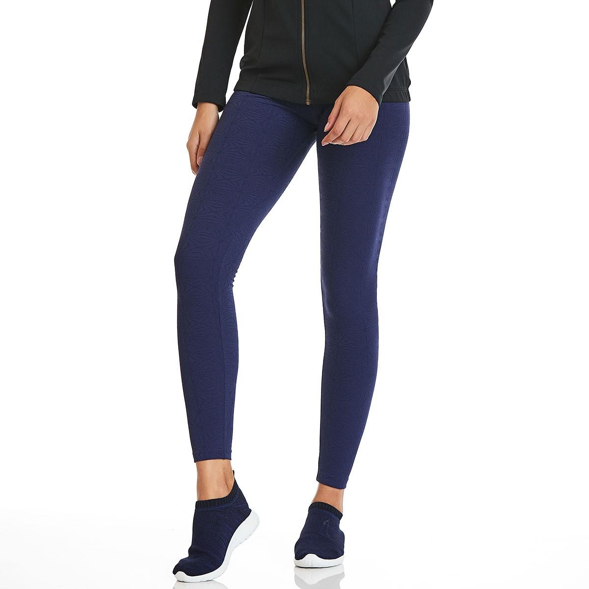 Legging Jacquard Azul CAJUBRASIL Activewear