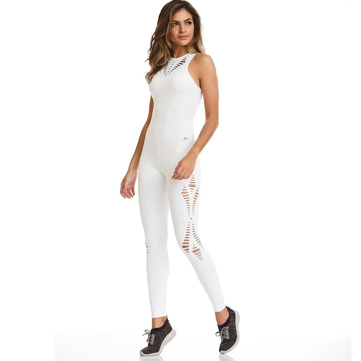 Macacão NZ Laser Classic Branco CAJUBRASIL Activewear