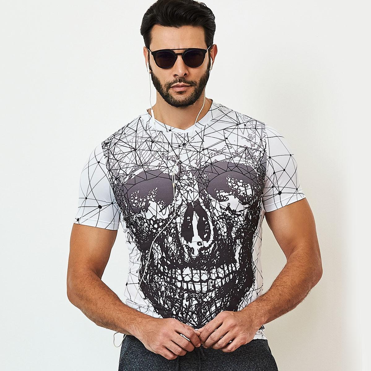 Camiseta Masculina Print Caveira CAJUBRASIL Activewear