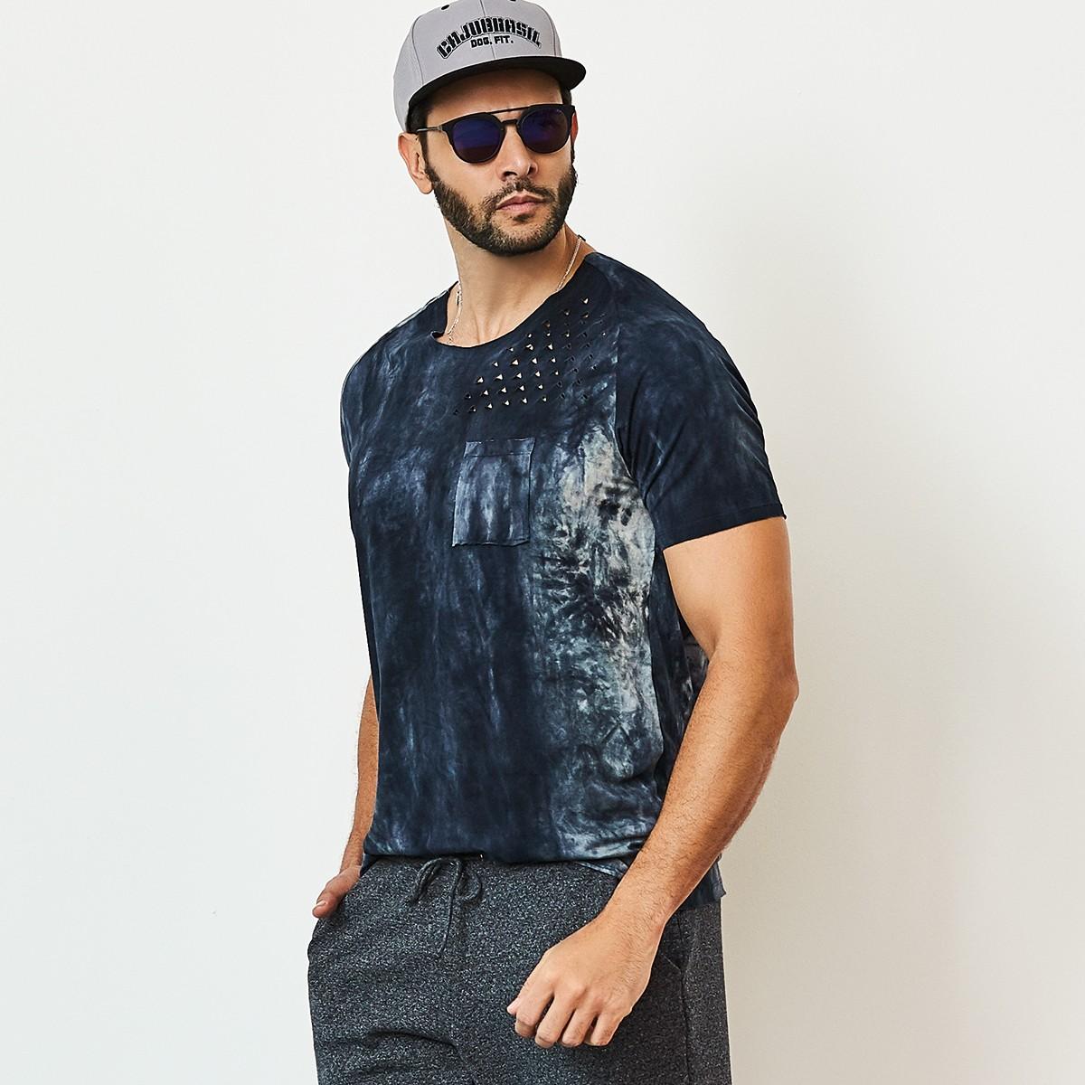 Camiseta Masculina Style Azul CAJUBRASIL Activewear