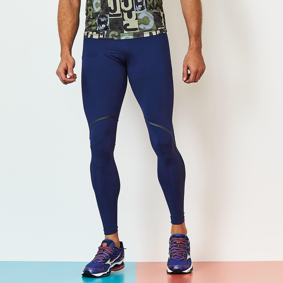 Legging Masculina Rock Run Azul CAJUBRASIL Activewear