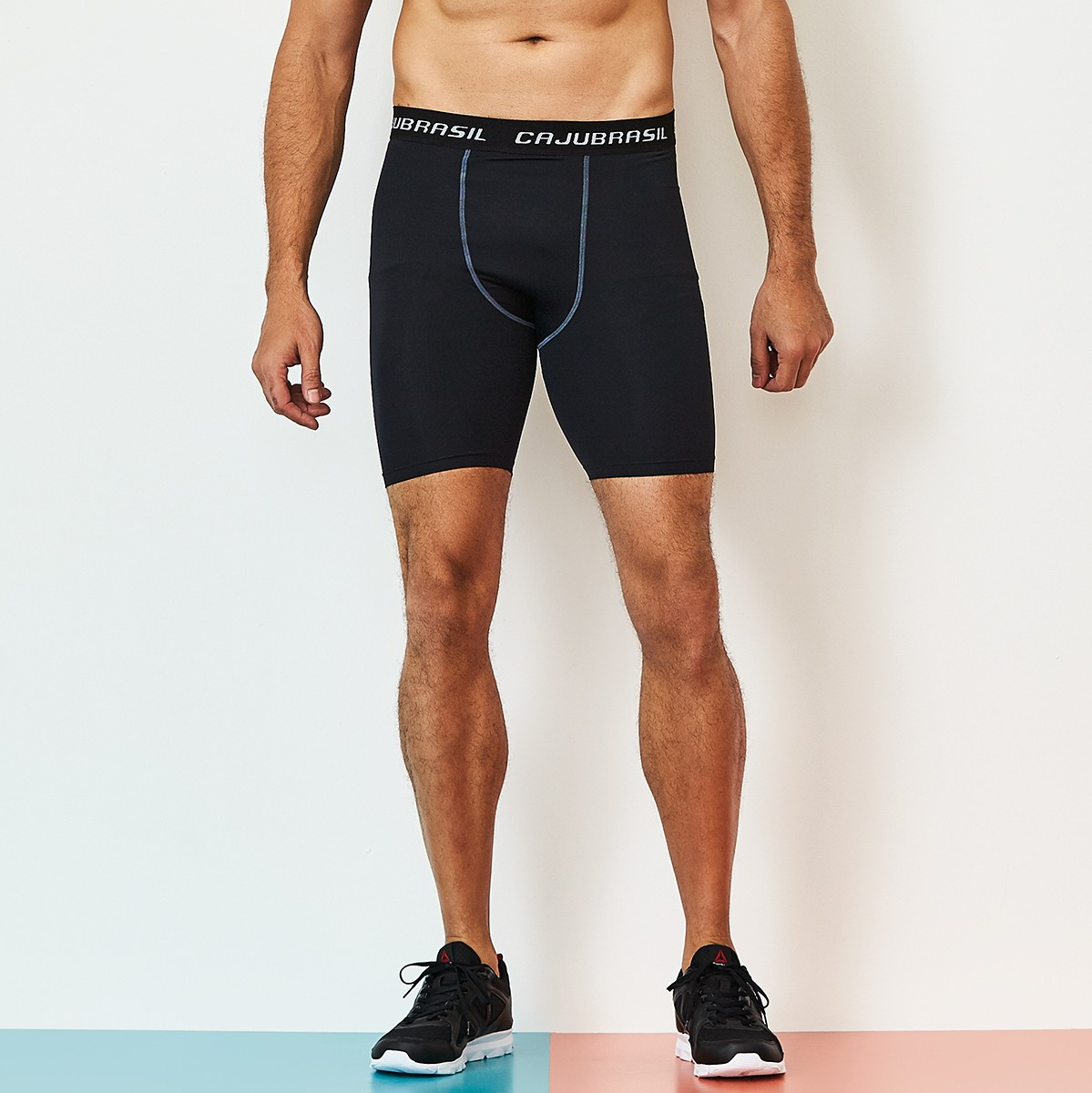 Short Térmic Preto CAJUBRASIL Activewear
