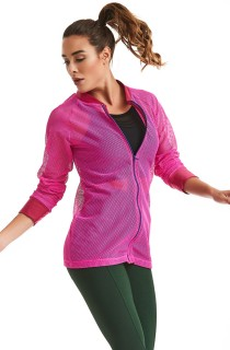 Casaco Bomber New Age Rosa CAJUBRASIL Activewear