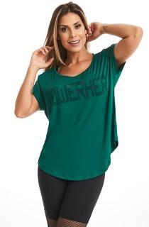T-shirt POWERHER Verde CAJUBRASIL Activewear