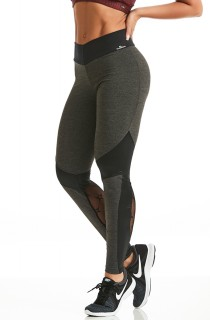 Legging Energetic Cinza CAJUBRASIL Activewear