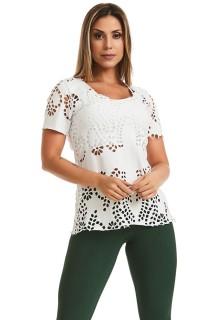 T-shirt Spring Branca CAJUBRASIL Activewear