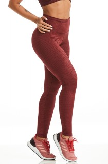 Legging Sucess Bordô CAJUBRASIL Activewear