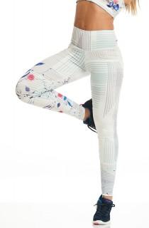Legging Print Perfect White Flowers CAJUBRASIL Activewear