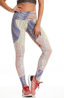 Legging Rock Fancy Line Branca CAJUBRASIL Activewear