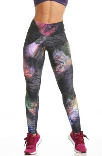 Legging High Estampada Black Tech CAJUBRASIL Activewear