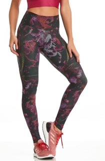 Legging High Estampada Night Flower CAJUBRASIL Activewear