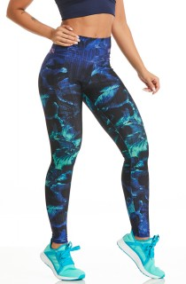 Legging Supreme Estampada Midnight Flowers CAJUBRASIL Activewear