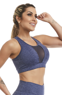 Top Cropped Purpose Azul