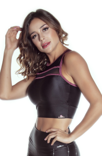 Top Cropped Atletika Preto