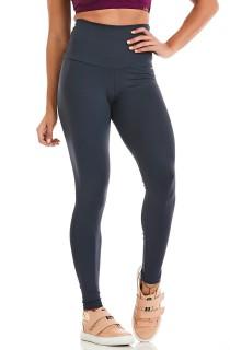 Legging NZ Cós Alto Basic Cinza CAJUBRASIL Activewear