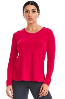T-Shirt Manga Longa Basic Rosa CAJUBRASIL Activewear