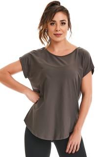 T-shirt Premium Basic Cinza CAJUBRASIL Activewear