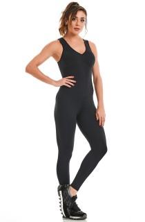 Macacão NZ Basic Preto CAJUBRASIL Activewear