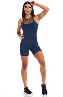Macaquinho Rock Sport Azul CAJUBRASIL Activewear