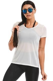 T-shirt Motion Branco CAJUBRASIL Activewear