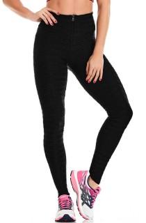 Legging Texture Coast Preto CAJUBRASIL Activewear