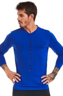 Camiseta Masculina Manga Longa Azul CAJUBRASIL Activewear