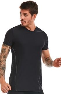 Camiseta Masculina GO! Preto CAJUBRASIL Activewear