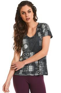 T-Shirt Let´s Go Preta CAJUBRASIL Activewear