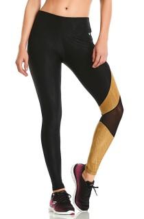 Legging Asymmetric Preta CAJUBRASIL Activewear