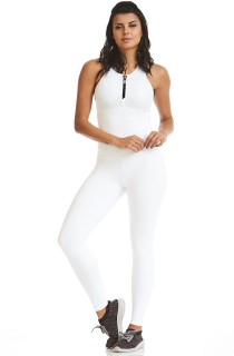 Macacão NZ Bojo Now Branco CAJUBRASIL Activewear