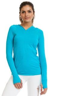 Blusa ML Effect Azul CAJUBRASIL Activewear