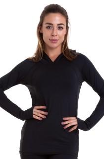 Blusa ML Effect Preta CAJUBRASIL Activewear