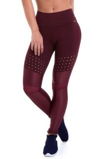 Legging NZ Mystic Bordô CAJUBRASIL Activewear