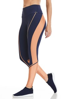 Legging NZ Gold Azul CAJUBRASIL Activewear