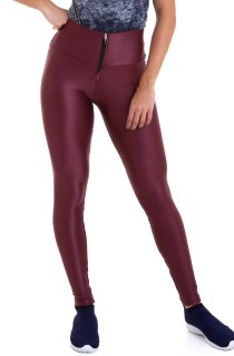 Legging Leather Bordô CAJUBRASIL Activewear
