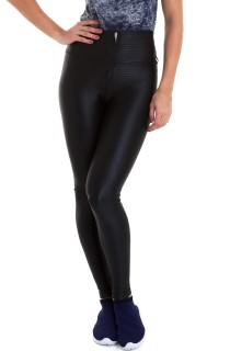 Legging Leather Preto CAJUBRASIL Activewear