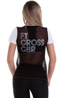 T-shirt FTCross Branca CAJUBRASIL Activewear