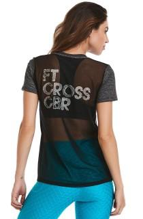 T-shirt FTCross Preta CAJUBRASIL Activewear