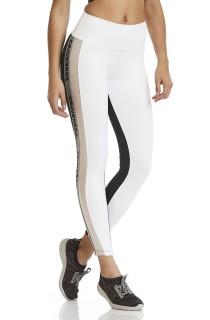 Legging NZ Glitter Branca CAJUBRASIL Activewear