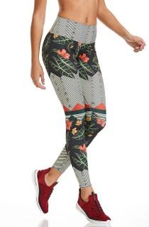 Legging Print Flawless Cinza CAJUBRASIL Activewear